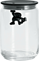 Alessi voorraadpot Gianni a little man holding on tight 90 cl zwart